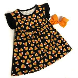 Boutique Halloween fall candy corn pearl top 5/6